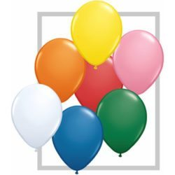 "11"" Qualatex Latex Balloon - Standard Assortment w/White 