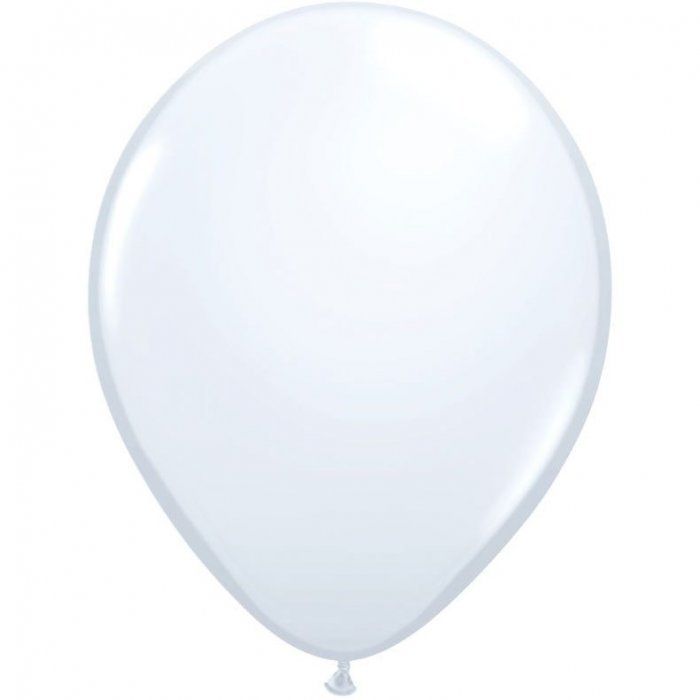 "11"" Qualatex Latex Balloon - White 