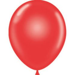 "11"" Tuf-Tex Latex Round Balloon - Crystal Red 