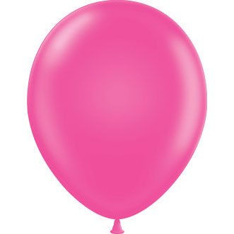 "11"" Tuf-Tex Latex Round Balloon - Hot Pink 