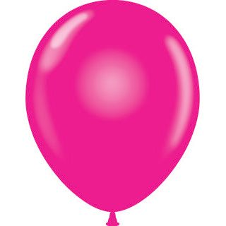 "11"" Tuf-Tex Latex Round Balloon - Magenta 
