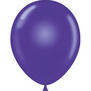 "11"" Tuf-Tex Latex Round Balloon - Purple 