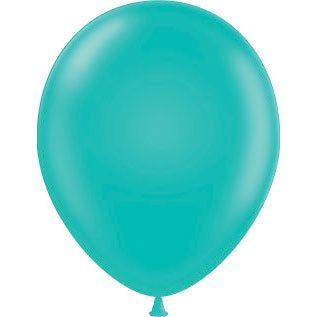 "11"" Tuf-Tex Latex Round Balloon - Teal | HICO"