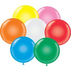 "14"" Tuf-Tex Latex Round Balloon Standard Assortment w/White 