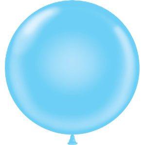"17"" Tuf-Tex Latex Round Balloon - Baby Blue | HICO"