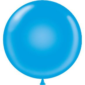 "17"" Tuf-Tex Latex Round Balloon - Blue 