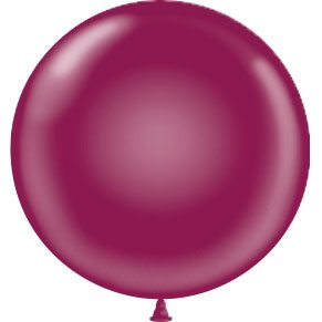 "17"" Tuf-Tex Latex Round Balloon - Burgundy 
