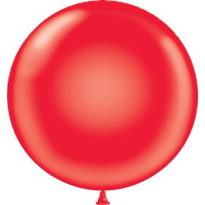 """17"""" Tuf-Tex Latex Round Balloon - Crystal Red 