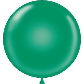 "17"" Tuf-Tex Latex Round Balloon - Emerald Green | HICO"