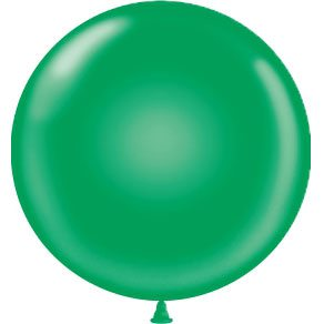 "17"" Tuf-Tex Latex Round Balloon - Green 