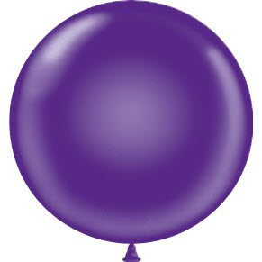 "17"" Tuf-Tex Latex Round Balloon - Purple 