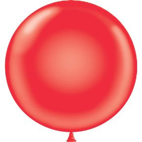 "17"" Tuf-Tex Latex Round Balloon - Red 