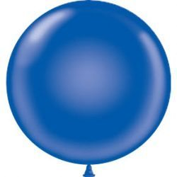 "17"" Tuf-Tex Latex Round Balloon - Saphire Blue 