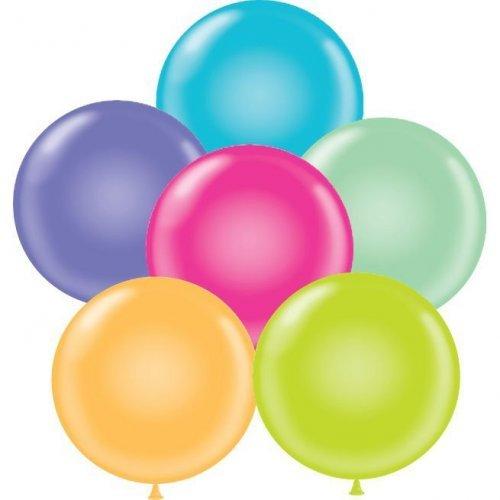 "17"" Tuf-Tex Latex Round Balloon Tropical Assortment   HICO"