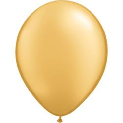 "5"" Qualatex Latex Round Balloon - Gold 