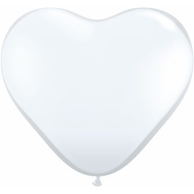 "6"" Qualatex Latex Heart Balloon - Diamond Clear 