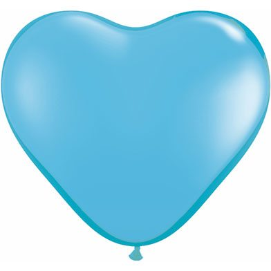 "6"" Qualatex Latex Heart Balloon - Pale Blue 